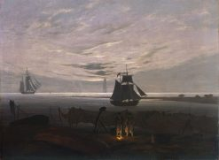 Evening on the Baltic Sea | Caspar David Friedrich | Oil Painting