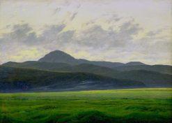 Mountain Landscape in Bohemia | Caspar David Friedrich | Oil Painting