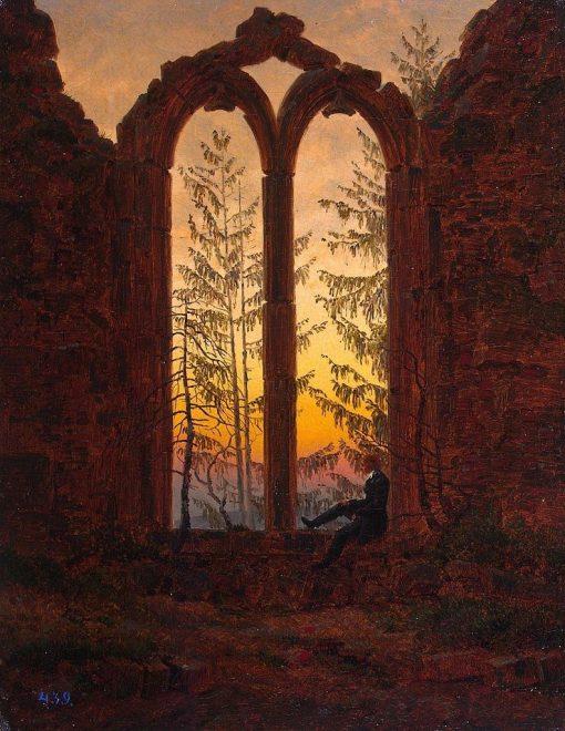 Ruins of the Oybin | Caspar David Friedrich | Oil Painting