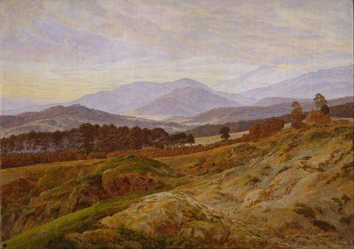 Riesengebirge Landscape   Caspar David Friedrich   Oil Painting