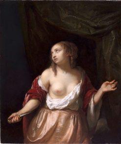 Lucretia | Caspar Netscher | Oil Painting