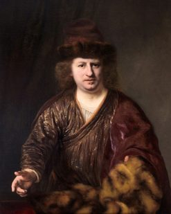 Man with a Fur-Trimmed Hat | Ferdinand Bol | Oil Painting