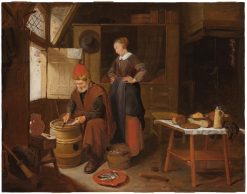 Fisherman and His Wife in an Interior | Quiringh van Brekelenkam | Oil Painting