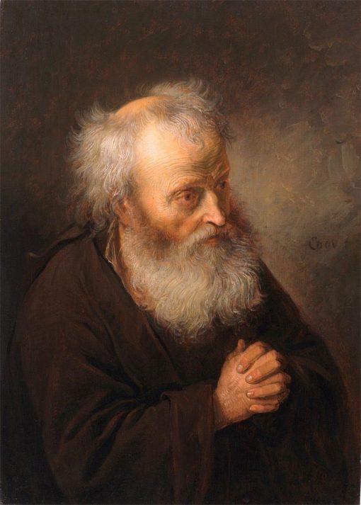 Old Man Praying   Gerrit Dou   Oil Painting