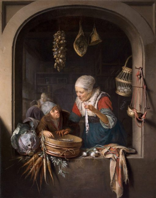 Herring Seller and Boy | Gerrit Dou | Oil Painting