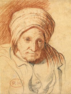 """Head of an Old Woman: """"Rembrandt's Mother"""" 