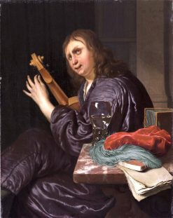 Man Tuning a Violin | Frans van Mieris the Elder | Oil Painting