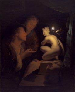 Young Man and Woman Studying a Statue of Venus