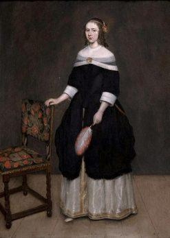 Portrait of a Young Girl | Caspar Netscher | Oil Painting