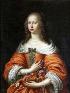 Portrait of Anna Maria Radziwi?? | Caspar Netscher | Oil Painting