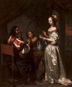Music-Making Company | Caspar Netscher | Oil Painting