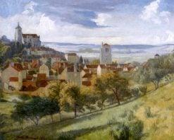 Landscape of Tonnerre   Emile Bernard   Oil Painting