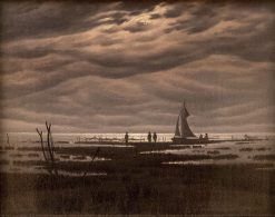 Flat Landscape at the Greifswalder Bodden | Caspar David Friedrich | Oil Painting