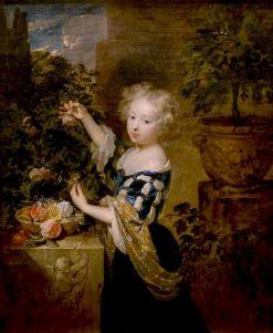 Girl Arranging Flowers | Caspar Netscher | Oil Painting