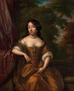 Portrait of Anna Maria Hoeufft | Caspar Netscher | Oil Painting