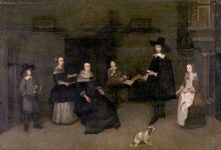 Family Scene | Caspar Netscher | Oil Painting