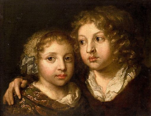 A Daughter and Son of the Artist | Caspar Netscher | Oil Painting
