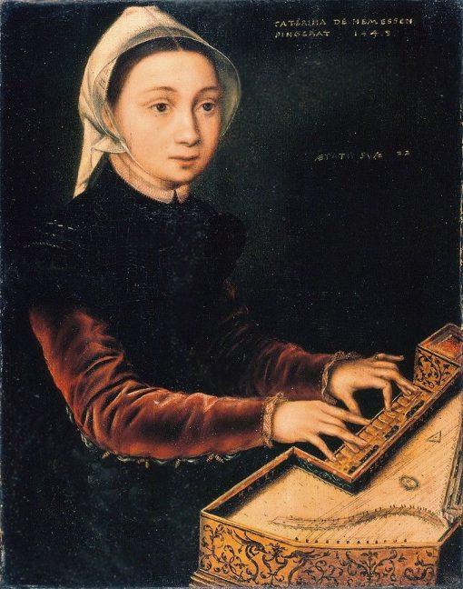 Girl at the Virginal | Catherina van Hemessen | Oil Painting