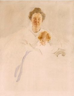Mrs. Robert Chapin and Daughter Christina | Cecilia Beaux | Oil Painting