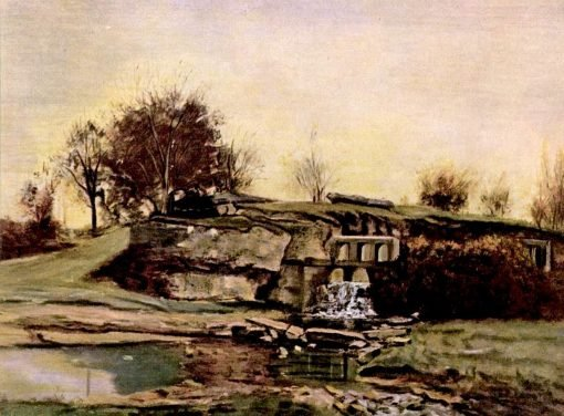 Sluice in the Valley of Optevoz | Charles-François Daubigny | Oil Painting