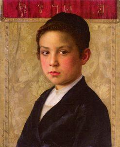 Portrait of a Boy   Isidor Kaufmann   Oil Painting