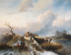 Return from the Hunt | Charles Rochussen | Oil Painting