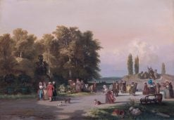 Park in the Vicinity of Paris | Charles Rochussen | Oil Painting