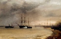 The Arrival of the Body of Willem II in Rotterdam | Charles Rochussen | Oil Painting