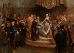 Anno 1477. Maria of Burgundy Grants the Great Privilege | Charles Rochussen | Oil Painting