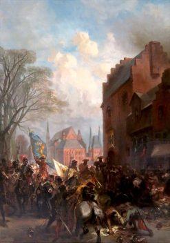 Anno 1528. Maarten van Rossum Plunders The Hague | Charles Rochussen | Oil Painting