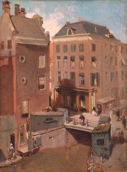The Osjessluis near Kalverstraat in Amsterdam | Charles Rochussen | Oil Painting