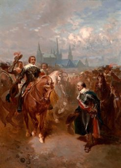 Anno 1632. Frederik Hendrik Enters Maastricht | Charles Rochussen | Oil Painting