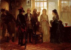 Anno 1787. The arrest of the Princess of Orange at Goejanverwellesluis | Charles Rochussen | Oil Painting