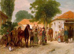 De requisitie | Charles Rochussen | Oil Painting
