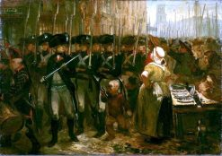 Anno 1785. De Vrijkorpsen | Charles Rochussen | Oil Painting