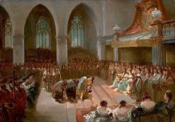Anno 1689. The Coronation of William III and Maria Stuart | Charles Rochussen | Oil Painting