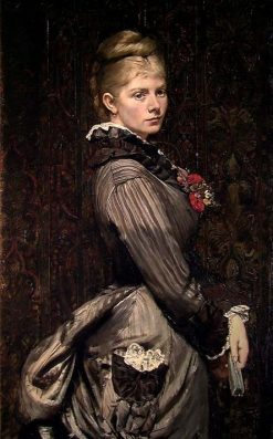 Portrait of Lucy Parr Egeberg   Christian Krohg   Oil Painting