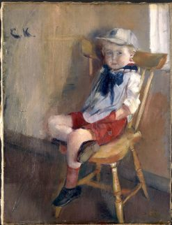 Boy in a Chair | Christian Krohg | Oil Painting