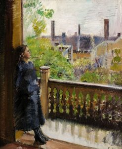 Balcony in Grønnegate | Christian Krohg | Oil Painting