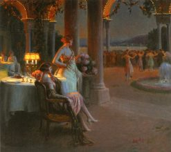 Evening on the Terrace | Delphin Enjolras | Oil Painting