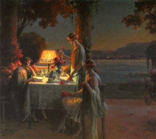 Young Women by the Lake | Delphin Enjolras | Oil Painting