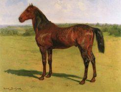 A Bay Horse in a Landscape | Rosa Bonheur | Oil Painting