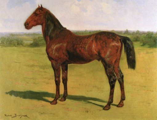 A Bay Horse in a Landscape | Rosa Bonheur | Oil Painting