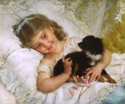 Her Best Friend   mile Munier   Oil Painting