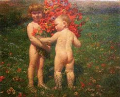 Children in a Meadow | variste Carpentier | Oil Painting