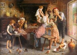 A Happy Family | Eugenio Zampighi | Oil Painting