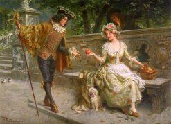 A Token of Love | Giacomo Mantegazza | Oil Painting