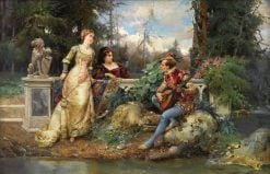 The Court Singer | Cesare Augusto Detti | Oil Painting