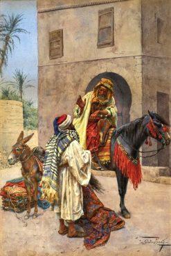The Carpet Seller | Giulio Rosati | Oil Painting