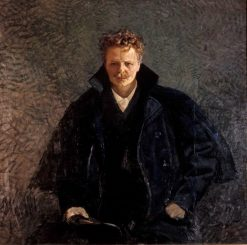 August Strindberg | Christian Krohg | Oil Painting